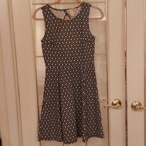 2 for $20 / 60s Print Fit & Flare Dress